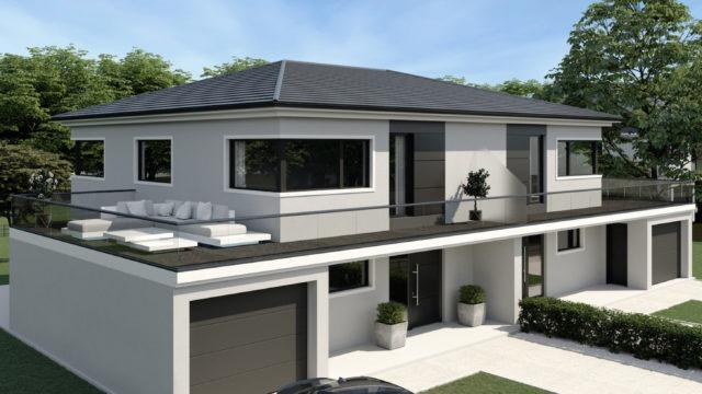 Neubau einer Doppelhaushälfte in München